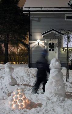 Lumiukot, lumilyhty