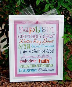 LDS niña bautismo metro arte  descarga inmediata