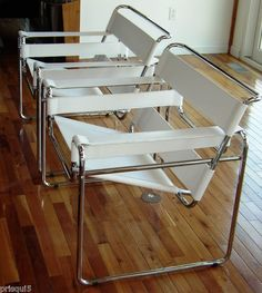 Wassily chair by Marcel Breuer manufactured by Hermann Miller