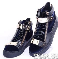 Giuseppe Zanotti Men Sneakers men In Black Model: GZS180 Manufacturer: Giuseppe Zanotti $900.00  $270.00
