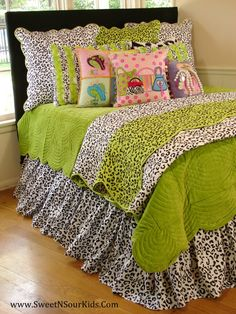 Leopard bedding for a fabulous girls bedroom