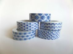You can buy a set of 5 Japanese Washi Tapes or you can buy youre favorite roll. Tape are approx. 15mm and are 10 M long. Washi tape is a