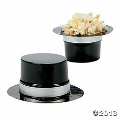 Mini Black Top Hats - Can decorate for Mad Hatter party hats and/or use for sending treats home!