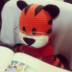Best Hobbes pattern. Made the side head stripes crocheted in instead of with felt.