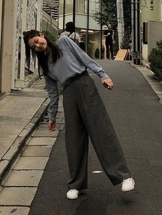 Kpop Outfits, Korean Outfits, Mode Outfits, Casual Outfits, Blackpink Fashion, Fashion Outfits, Oki Doki, Foto Casual, Korean Street Fashion
