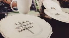 Wanderlust Crossroads Dessert Plate  Travel-Themed by CopilotCreations #dinnerware #sharpie #sharpieplate