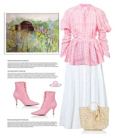 """""""Country Girl"""" by terry-tlc ❤ liked on Polyvore featuring Lisa Marie Fernandez, Rosie Assoulin, Calvin Klein 205W39NYC, BillyTheTree, Barneys New York and country"""