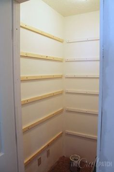 Build A Small Pantry Closet.Kitchen Pantry Makeover Replace Wire Shelves With Wrap . Add More Pantry Space With These Brilliant Hacks Hometalk. DIY Walk In Closet Shelving Would Do This With Plumbing . Home and furniture ideas is here Kitchen Pantry Storage, Built In Pantry, Kitchen Shelves, Diy Kitchen, Kitchen Corner, Wall Shelves, Build Shelves, Kitchen Small, Kitchen Ideas