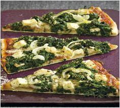Pizza med spinat og feta - Sund mad - Opskrifter - Søndag