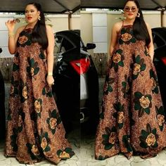 Ankara flared long gown