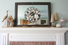 How to create a coastal mantel by @Sand and Sisal
