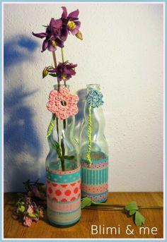 Vasen aus alten Flaschen / Vases made of old bottles / Upcycling
