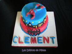 Gâteau Spider-man (pâte à sucre)