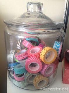 Allred Design Blog: Craft Storage Ideas Using Jars - I NEED MORE JARS!!!