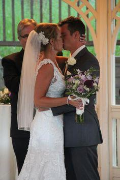 Jessica and Carl - the kiss. . . #BlackHillsReceptions