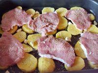 Muşchi felii cu cartofi la cuptor | Rețete BărbatLaCratiță Kefir, Bacon, Meat, Pork, Pork Belly