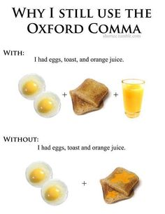 Oxford Comma - - I think it's funny.but I'm also an English major, lol.my version of 'funny' is a little twisted, haha. Info Board, Bebidas Detox, Editing Skills, Copy Editing, E Mc2, It Goes On, No Me Importa, Punctuation, Just In Case