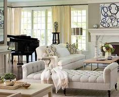 gold and black living room decorating ideas | Living Room Design Ideas, Spacious Room Decorating around Grand Piano