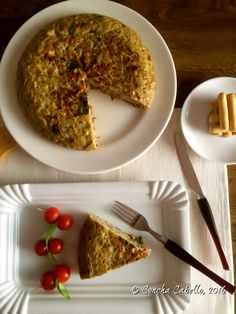 Tortilla de Berenjena Blanca con Bacon y Tomates Secados al Sol