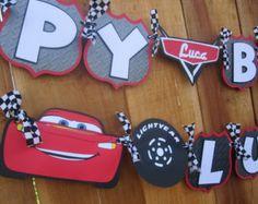 Premium Disney Pixar Cars cumpleaños Banner