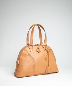 Yves Saint Laurent almond calfskin 'Muse' large tote