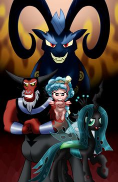 Evil is Coming by AleximusPrime on DeviantArt My Little Pony Characters, Mlp My Little Pony, My Little Pony Friendship, Night Fury Dragon, Mermaid Man, Queen Chrysalis, Mlp Fan Art, Imagenes My Little Pony, My Little Pony Pictures
