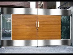 34 Amazing Steel Gate Design Ideas Match With Any Home Design - The purpose of home security gates is simple. They increase the level of security of the property and help to keep the family safe. They can enhance t. House Main Gates Design, House Design, Door Design, House Entrance, Modern Main Gate Designs, Small House Design, Entrance Gates Design, Gate Designs Modern, Front Gate Design