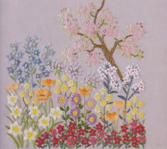 PDF Pattern of One day in my garden hand embroidery pattern sewing quilt applique patchwork art gift handmade ebook