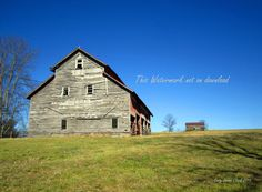 Weathered Barn on a Hill by CindyELClarkPhotos on Etsy
