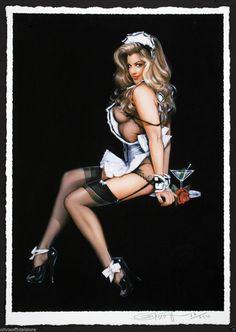 "Pinup Art by Olivia de Berardinis ""Nightcap"" Giclee Signed 'D Monica Leigh | eBay"