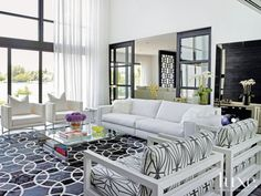 A Waterfront Miami Beach Residence with a Black-and-White Palette