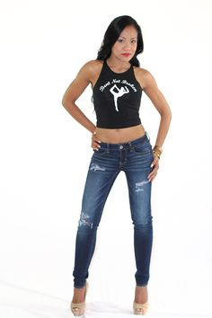 Bent Not Broken Crop (Black) - $22.00 | Sizes: XS, S, M, L