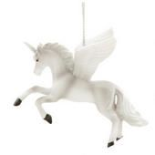 Unicorn With Wings Ornament  border=