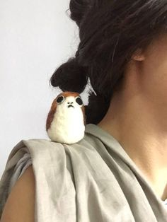 Porgs inspired by Star Wars: The Last Jedi! Hand-felted miniature Porg. Made from organic, kettle-dyed merino wool. As each Porg is handmade, no two Porgs will be alike. Each will be unique in its own special way. Colours may vary slightly from the photos depending on batch of wool.