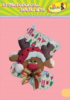 Miss Dorita: Navidad Christmas Stockings, Christmas Ornaments, Christmas Embroidery, Reno, Making Out, Reindeer, Decoupage, Teddy Bear, Toys