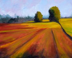 Spring Field Landscape Painting by Nancy Merkle; Original and Fine Art Reproductions