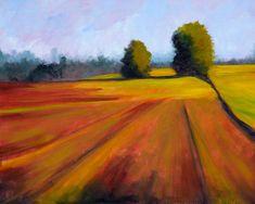 """Oil on canvas, """"Spring Field,"""" by Nancy Merkle, Fine Art America."""