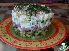 Селедочный салат с огурцами ингредиенты