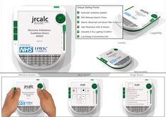 """Electronic Injury Rescue    This project right here is known as the EAGD aka """"Electronic Ambulance Guidelines Device. It's an electronic information tablet made by designer Matteo Trisolini for JRCALC (Joint Royal Collage Ambulance Liaisons Committee) and the NHS Ambulance trust to replace the current paper handbooks being used today. Made to be understandable by paramedics and ambulance technicians of all ages (between 18 and 65) so that even the """"aging"""" UK population c..."""
