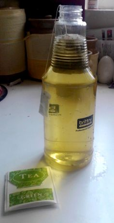 Green Tea Face Mist. same thing I pinned before but with an idea of how to make without searching pin :D