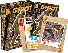 Bigfoot Playing Cards - Aquarius for sale online Bigfoot Toys, Bigfoot Party, Bigfoot Sasquatch, Poker Supplies, Finding Bigfoot, Fun Card Games, Deck Of Cards, New Toys, Aquarius