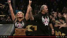 Bret Hart with Natalya