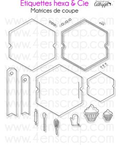 Cette matrice de coupe (die) étiquettes héxagonales vous permettra de personnaliser vos emballages. N'hésitez pas à aller voir toute la collection hiver 2014 de 4enSCRAP.
