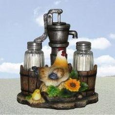Pump Up The Spice Rooster Salt Pepper Shaker Set Kitchen Decoration Rooster | eBay