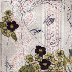 Claire Coles Thread Art, Thread Painting, Art Textile, Textile Artists, Embroidery Art, Machine Embroidery, Stitch Drawing, Contemporary Embroidery, Textiles