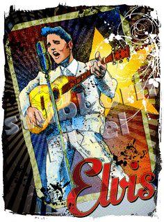 Elvis Presley LickedinPop Giclée Art Print by StubbornPixelStudios