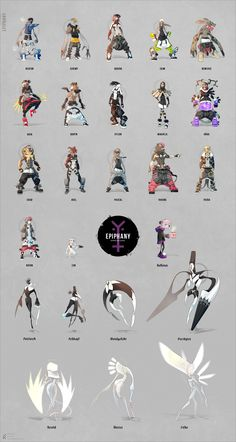Epiphany: complete collection of characters by Florian-K.deviantart.com on @deviantART