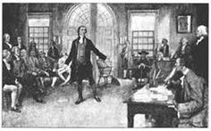 First Continental Congress. First time the colonists all met to discuss the problems in the colonies.