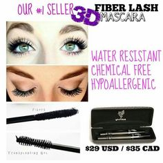 Got puny lashes?.want more volume and length?  Get it with 3D fiber lash mascara! www.lashesbychrissie.com