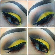 Inspired by a Sunflower #motd #makeuplooks #eyeshadow #jackieglams #eyes #makeup